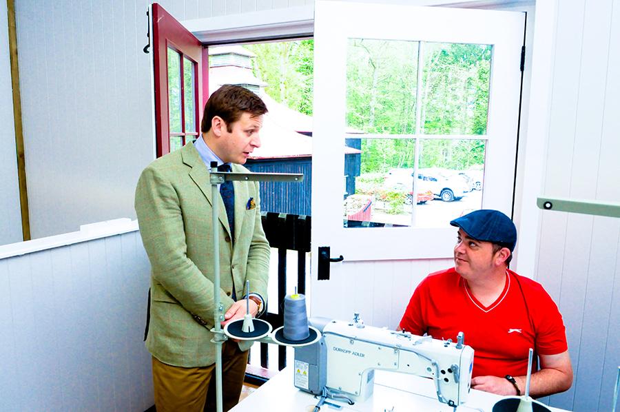 James Sugden meets trainee Robert