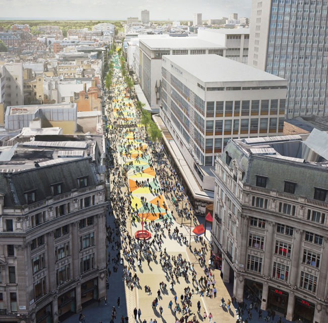 How a pedestrianised Oxford Street might have looked