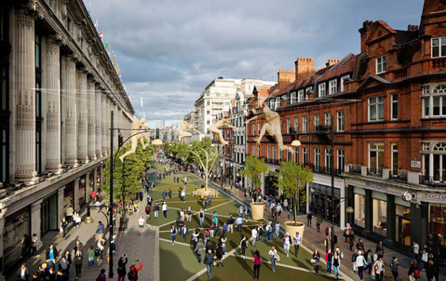 How a pedestrianised Oxford Street might look