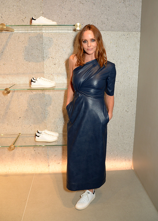 Stella McCartney in the vegan Stan Smith shoe