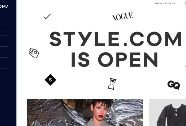 Style.com Conde Nast Farfetch