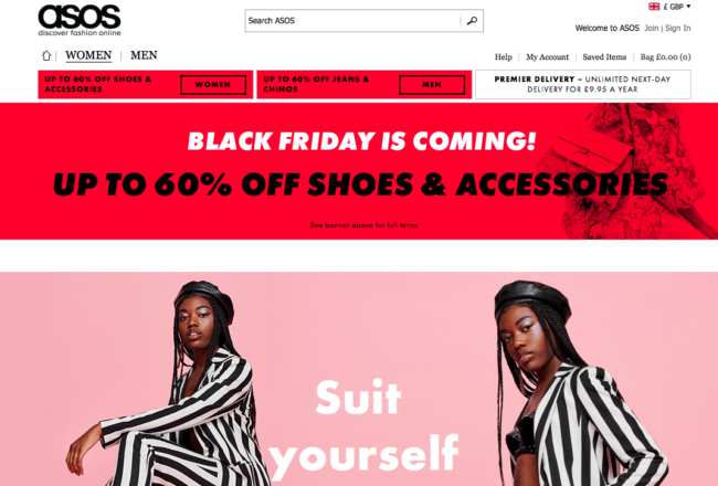 ASOS Black Friday
