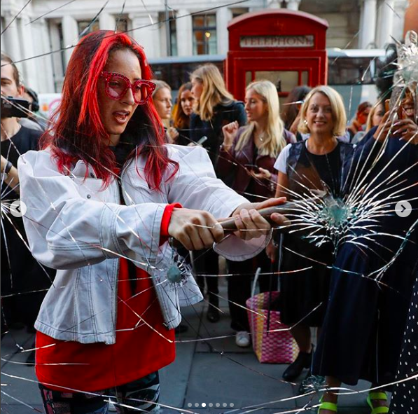 Harvey Nichols recreates Suffragettes smashing windows