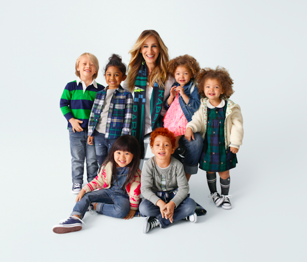 Sarah Jessica Parker and models wearing her Gap collection